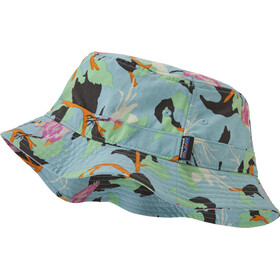 Patagonia Wavefarer Bucket Hat, spoonbills/big sky blue